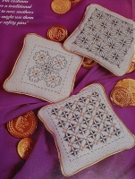 Elizabethan Style Pin Cushions/ Sachets ~ Three Blackwork Patterns