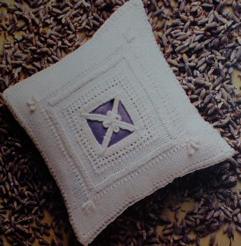 Lavender Sachet ~ Reticella Lace Embroidery Pattern