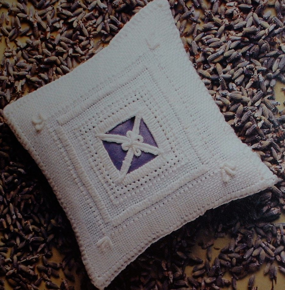 Lavender Sachet ~ Reticella Lace Embroidery Pattern