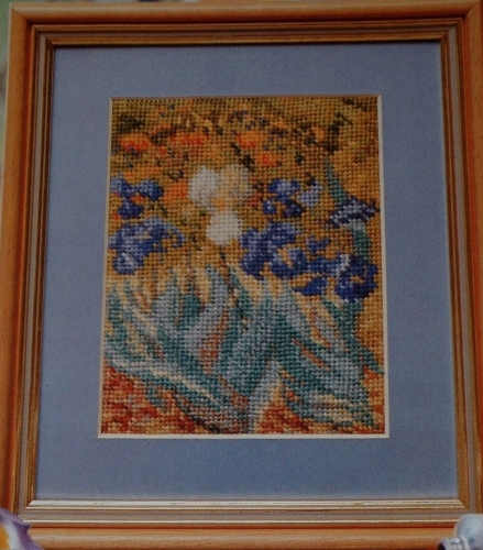 Van Gogh's Irises ~ Needlepoint Pattern