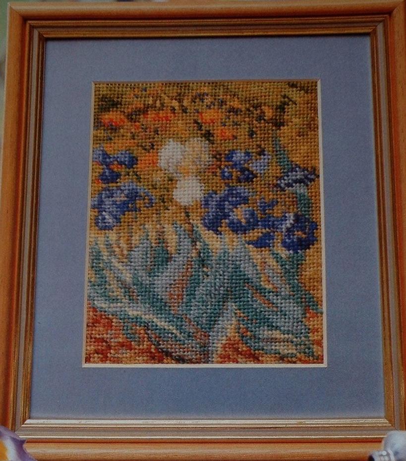 Van Gogh's Irises ~ Needlepoint Pattern