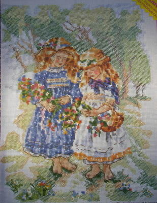 Paintbox Poppets: Youthful Innocence ~ Cross Stitch Chart