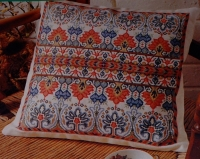 Indian Folk Border Cushion ~ Cross Stitch Chart