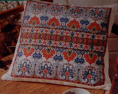 Indian Folk Border Cushion ~ Cross Stitch Chart