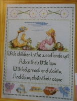 Children Making Daisy Chains ~ Cross Stitch Chart