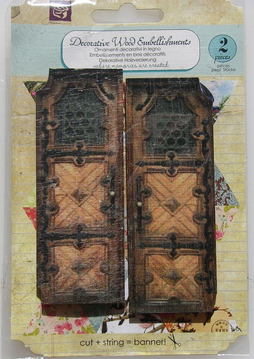 Prima ~ Decorative Wood Embellishments: Wooden Doors 560669