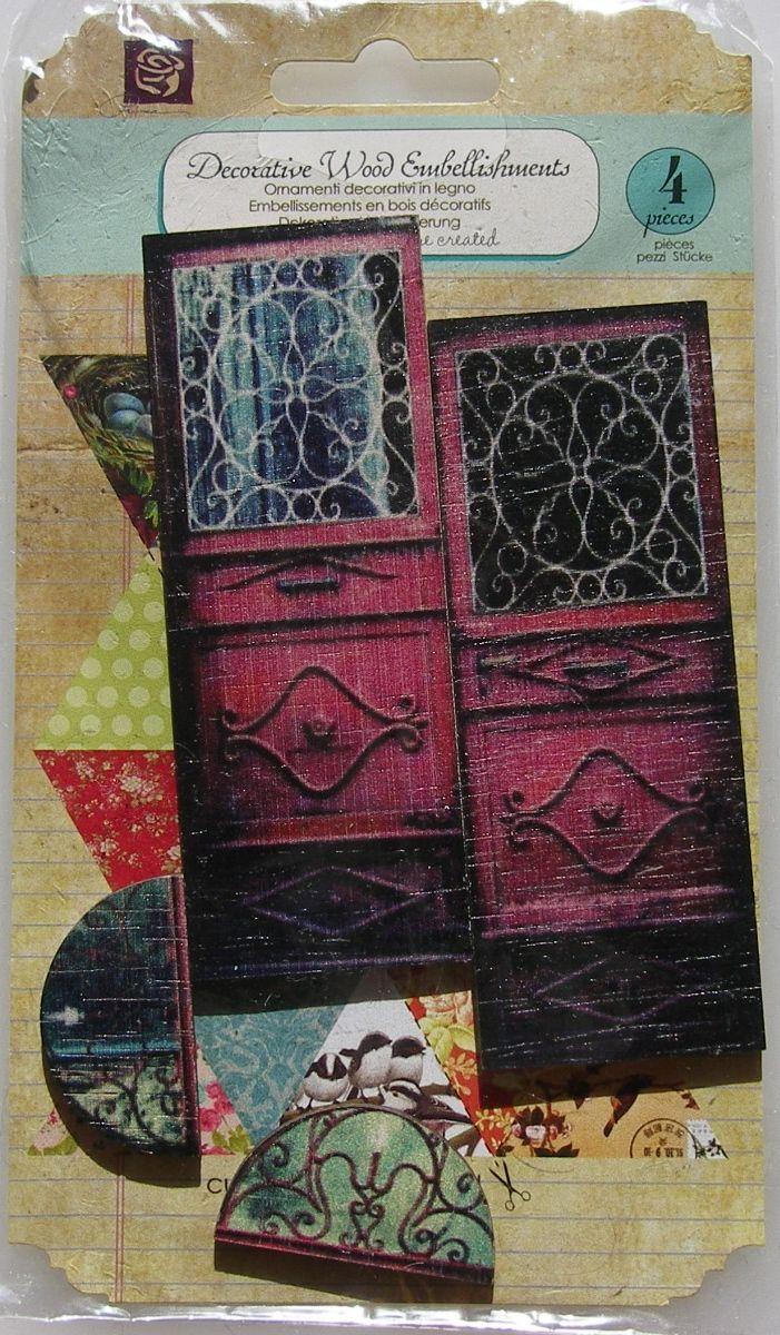 Prima ~ Decorative Wood Embellishments: Wooden Doors 560683