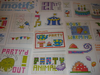 29 Celebration Motifs ~ Cross Stitch Charts