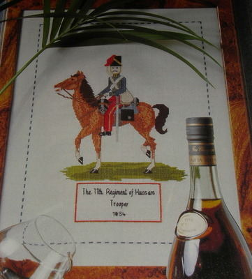 11th Regiment Hussara Trooper 1854 Horseback Rider: Cross Stitch Chart