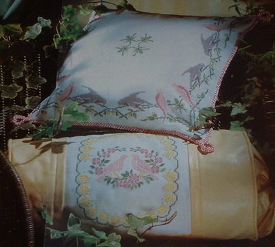 Pastel Dove Cushions ~ Two Cross Stitch Charts