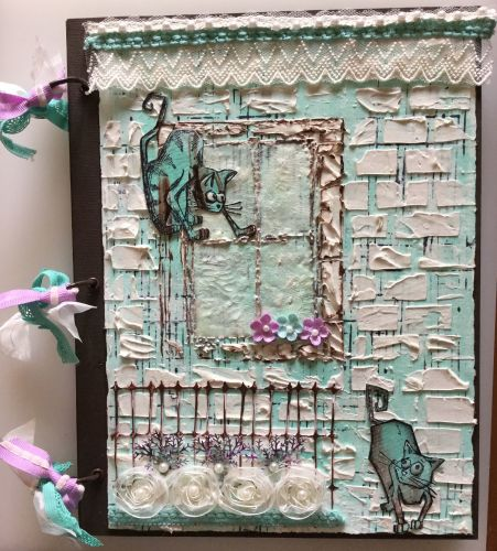 *house cats* Handmade Mixed Media Photo Memory Album