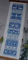 Assisi Band Sampler Bellpull ~ Cross Stitch Chart