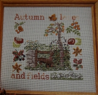Autumn Lanes & Fields ~ Cross Sttich Chart