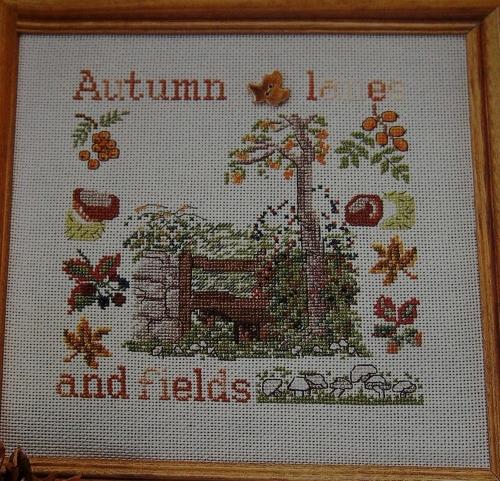 Autumn Lanes & Fields ~ Cross Sttich Chart