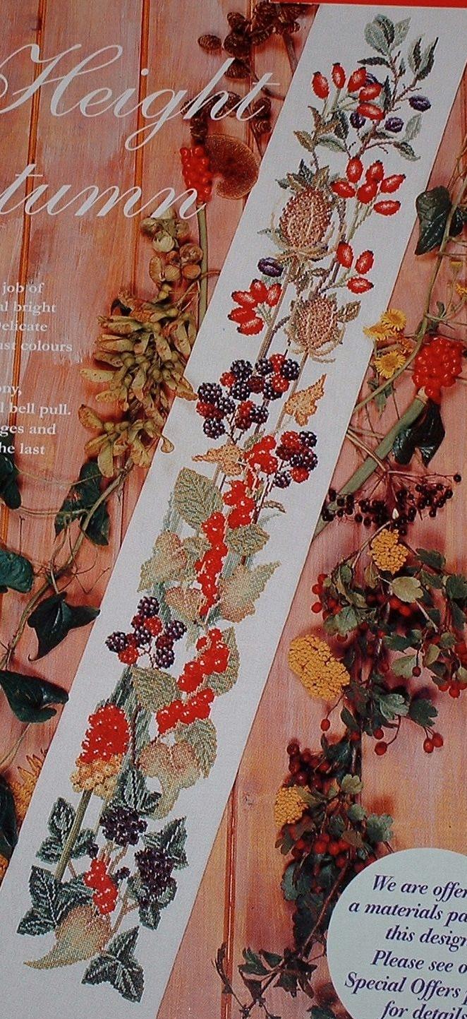 Height of Autumn Bellpull Sampler ~ Cross Stitch Chart