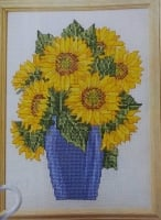 Sunflowers in a Vase ~ Cross Stitch Chart