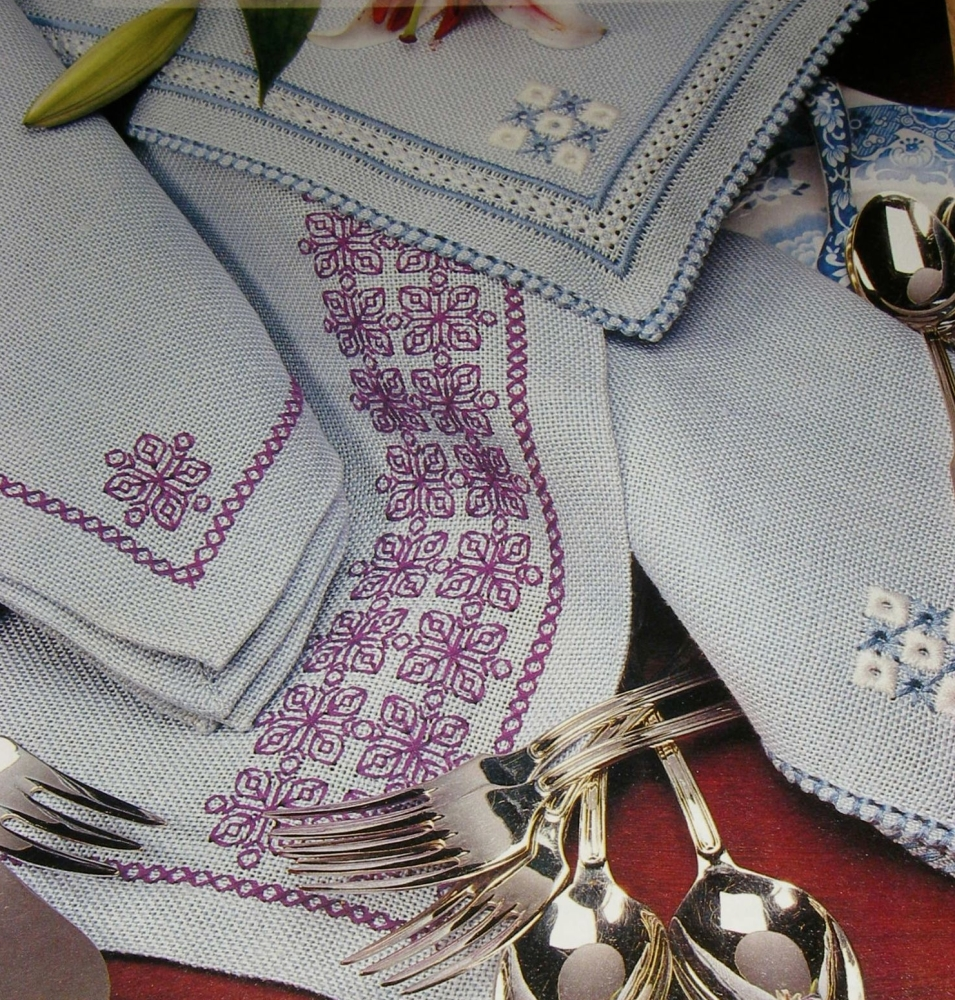 Blackwork & Counted Thread Embroidery Table Linen ~ Patterns