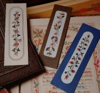 Embroidered Floral Bookmarks ~ Three Embroidery Patterns