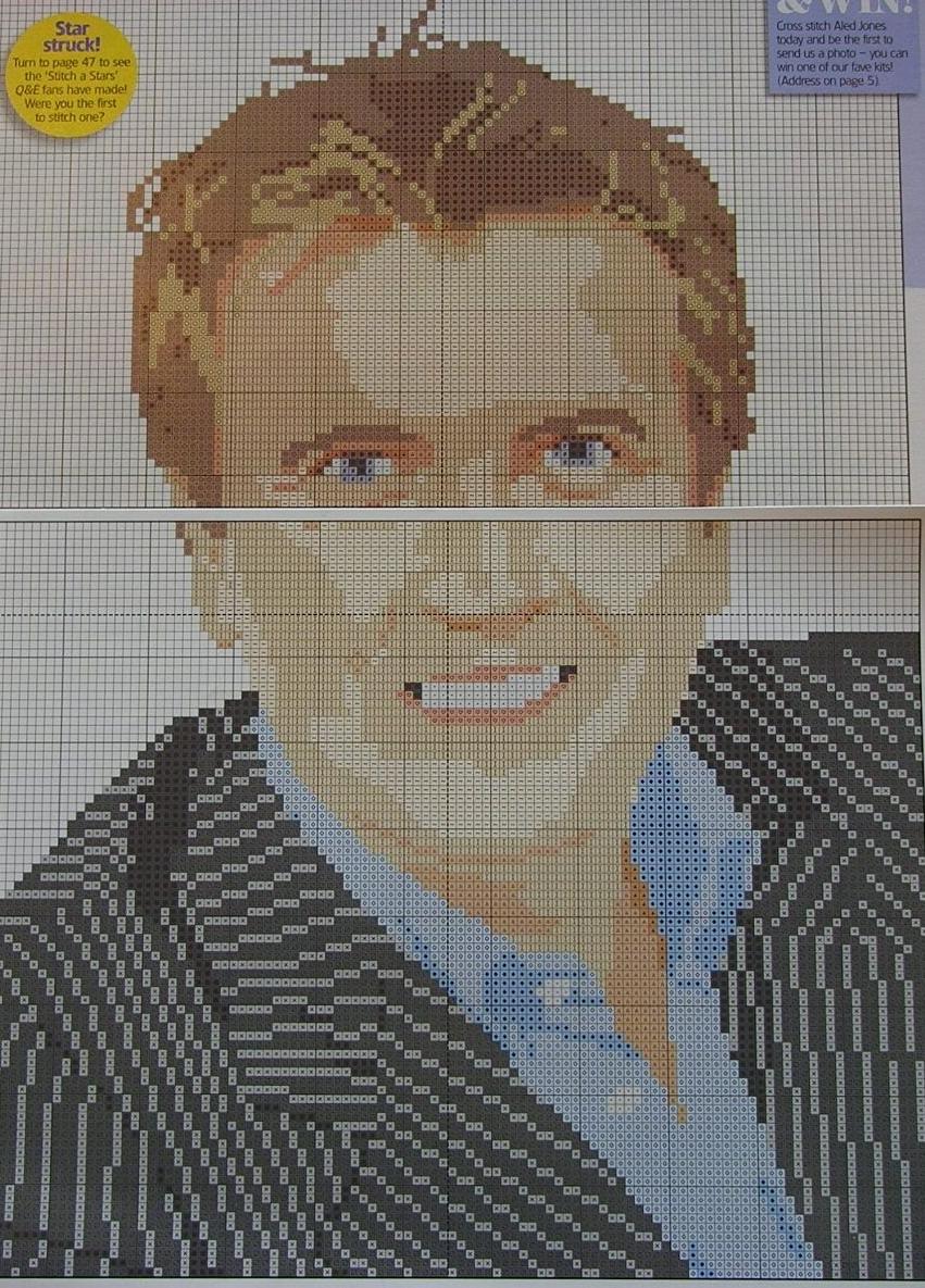 BBC Presenter: Aled Jones ~ Cross Stitch Chart