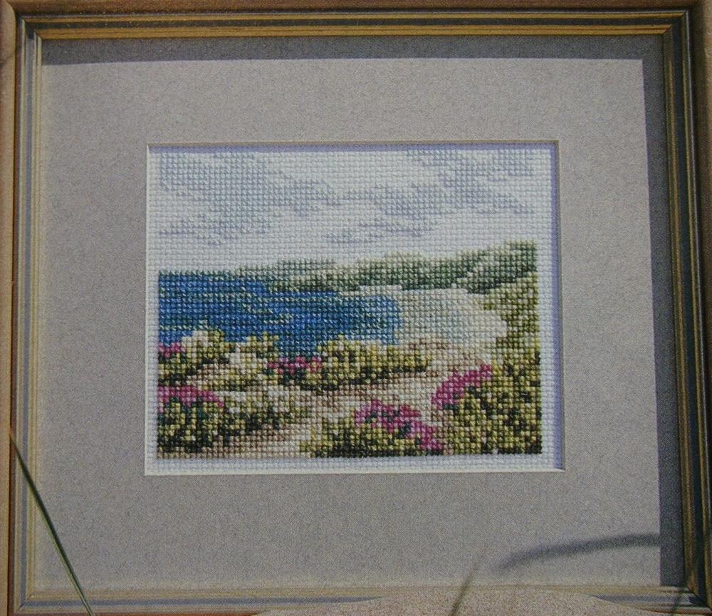 Sand, Sea & Sky Scene ~ Cross Stitch Chart
