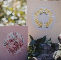 Silk Ribbon Embroidery Floral Cards ~ Two Embroidery Patterns