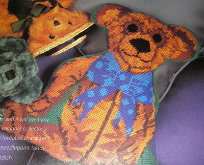 Shaped Teddy Bear Needlepoint Cushion ~ Pattern
