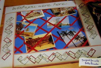 Wish you were here Postcard Board ~ Cross Stitch Chart