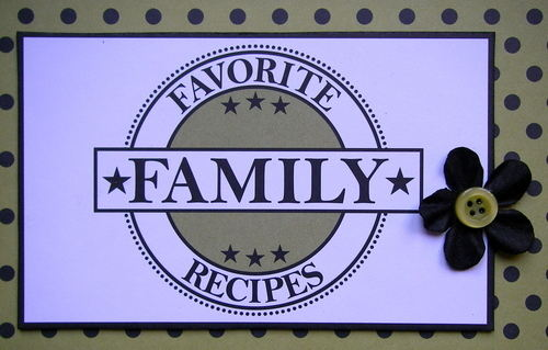 *favorite recipes* label