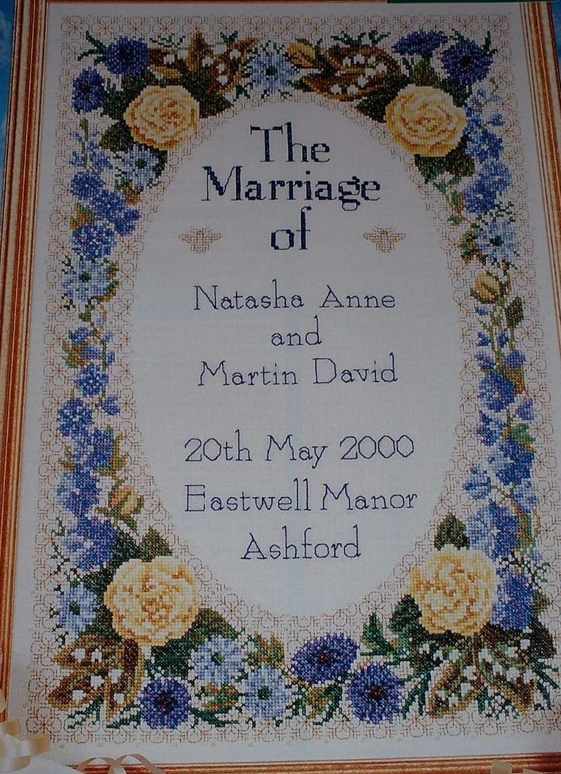 Floral Wedding Sampler ~ Cross Stitch Chart
