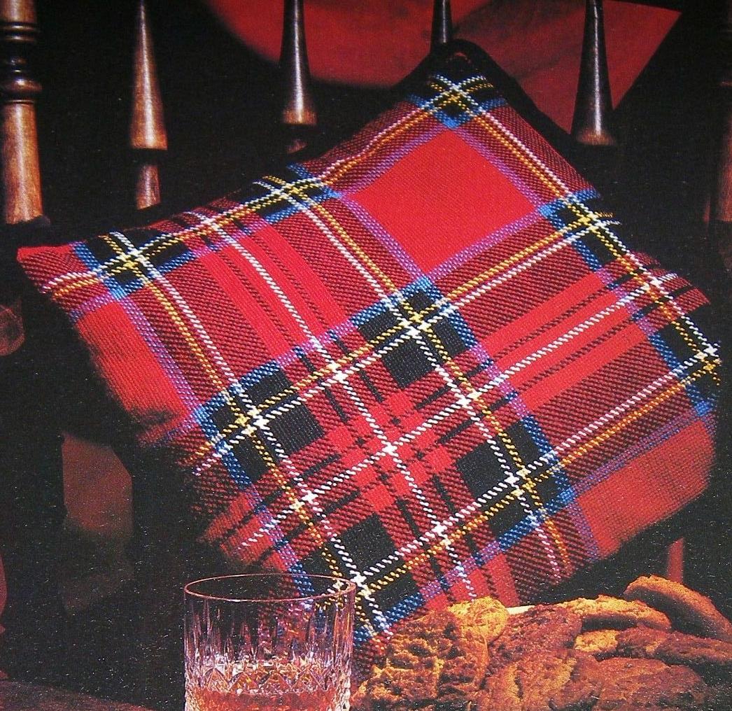 Scottish Tartan Cushion ~ Cross Stitch Chart