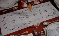 Hardanger Table Runner ~ Embroidery Pattern
