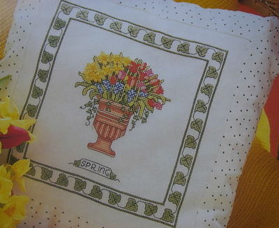 Spring Bouquet Cushion ~ Cross Stitch Chart