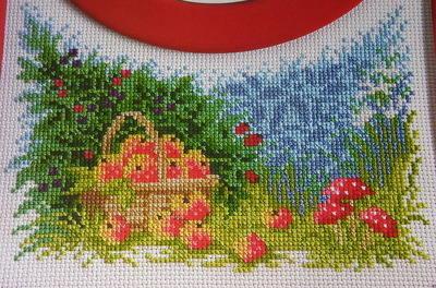 Harvest Apples Scene ~ Cross Stitch Chart