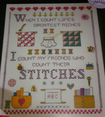Count Life's Riches: Stitcher's Sampler ~ Cross Stitch Chart