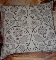 Elizabethan Blackwork Cushion ~ Blackwork Pattern