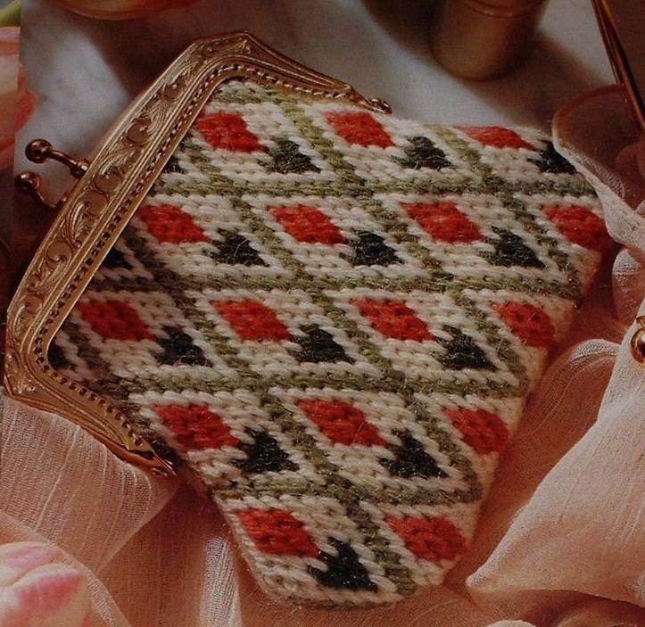Bargello Needlepoint Purse ~ Bargello Pattern