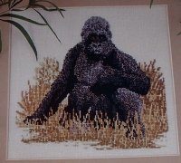 Silverback Male Gorilla ~ Cross Stitch Chart