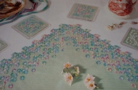 Hardanger Table Centre & Coasters ~ Hardanger Patterns