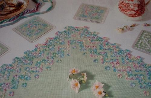 Hardanger Table Centre & Coasters ~ Hardanger Patterns