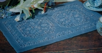 Caron Thread Hardanger Table/Dresser Runner ~ Embroidery Pattern
