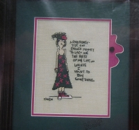Twisted Threads: Listen Honey I've Got Enough Money ~ Cross Stitch Chart