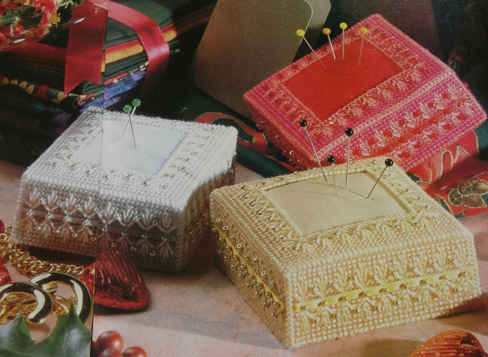 Embroidered Pincushions with Beads ~ Pattern