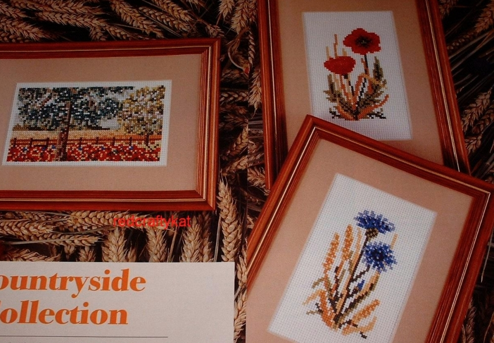 Poppy, Cornflower & Cornfield ~ Three Cross Stitch Charts