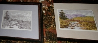 Stone Bridge over a River ~ Cross Stitch Chart & Blackwork Pattern