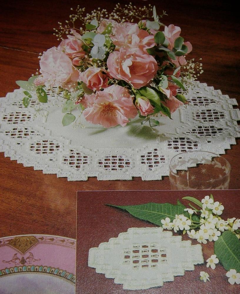 Circular Hardanger Tablemats ~ Embroidery Patterns