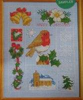 Christmas Robin Sampler ~ Cross Sttich Chart