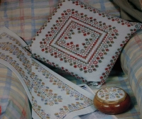 Caron Impressions Cushion, Table Runner & Trinket Top ~ Cross Stitch Charts