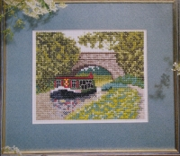 Barge on the River ~ Cross Stitch Chart