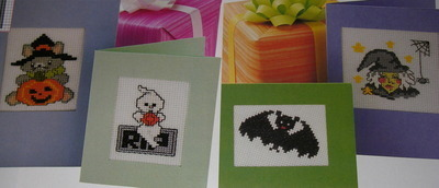 Success & Halloween Cards ~ TEN Cross Stitch Charts