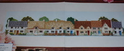 A Row of Seven Country Cottages ~ Cross Stitch Chart